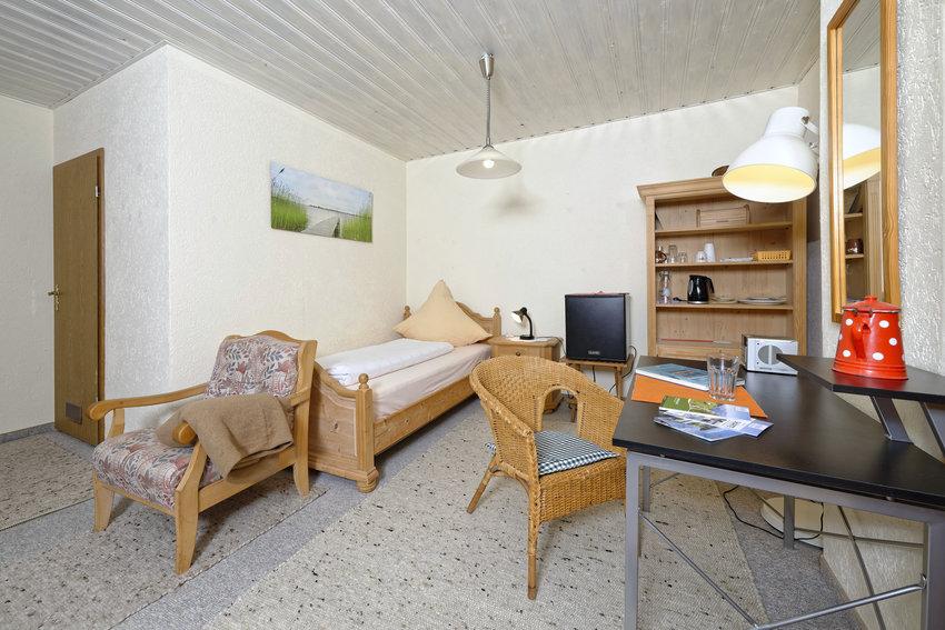 Wohn- und Schlafbereich Gästezimmer
